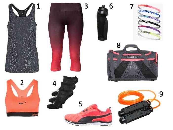 Liste Shopping Octobre - fitness