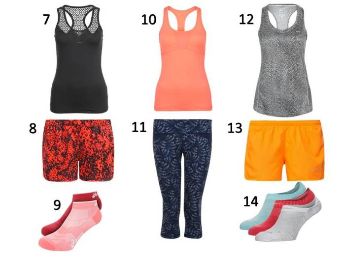 Liste Shopping Octobre- running 2