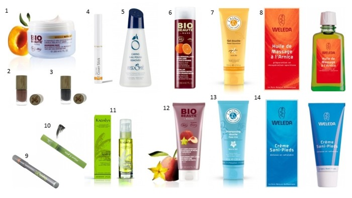 Liste shopping de Mars - beauté